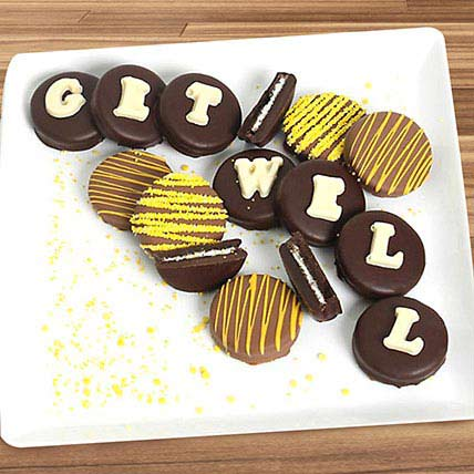 Get Well Belgian Chocolate Sandwich Cookies: Personalised Chocolates