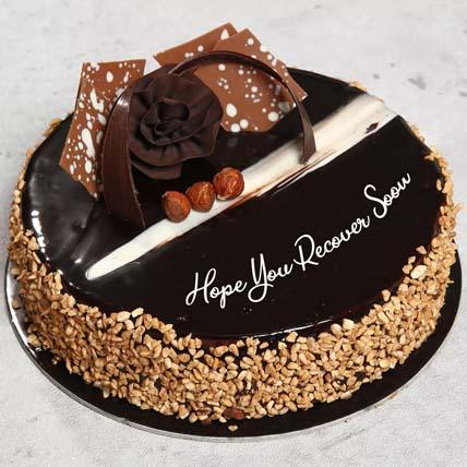 Get Well Soon Rose Noir Cake: Get Well Soon Flowers