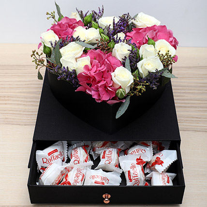 Roses N Chocolates Combo: Flowers and Chocolates for Mothers Day