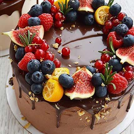 Fruity Choco Cake: Wedding Anniversary Cake