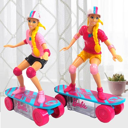 Barbie Skateboard Toy With Candies 2 Pcs: Birthday Gifts for Kids