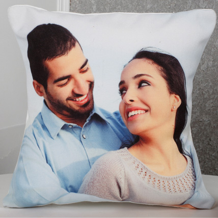 Personalized Picture Cushion: Birthday Gift For Husband