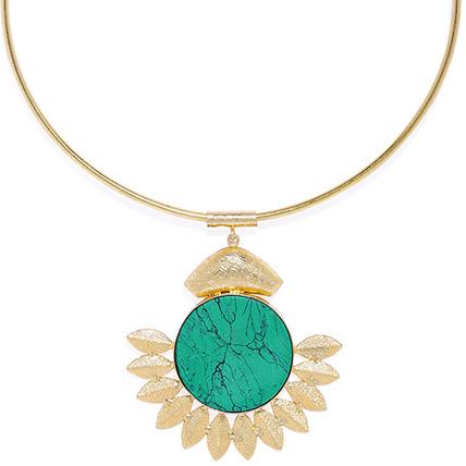 Gold Toned Metallic Necklace: Jewellery
