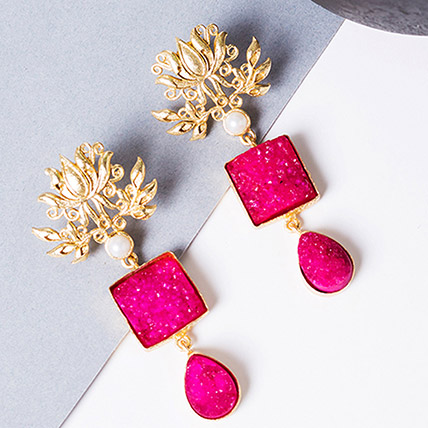 Stylish Drop Earrings: Rakhi Gifts for Sister