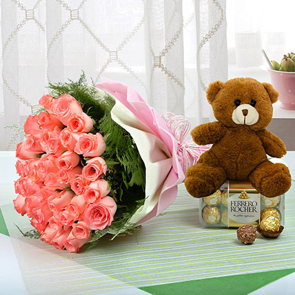 Showing Ur Heartiest Emotions: Flowers and Teddy Bears