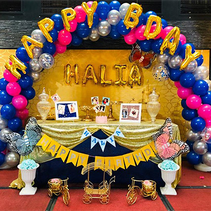 Mixed Color Theme Birthday Decor: Balloon Decorations