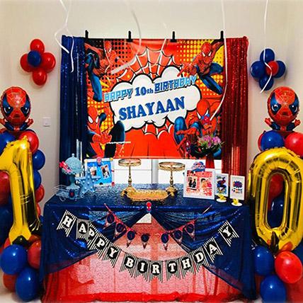 Spider Man Theme Decor: Balloon Decorations