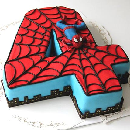 Fourth Year Spiderman Cake: Spiderman Cakes