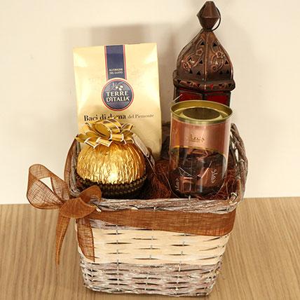 Classic Dried Fruits N Sweets Hamper Basket: Ramadan Gifts