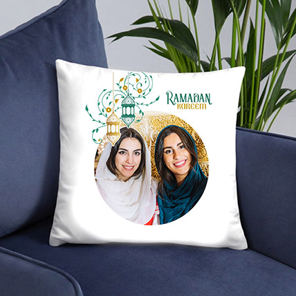 Ramadan Greetings Photo Cushion: Personalised Ramadan Gifts