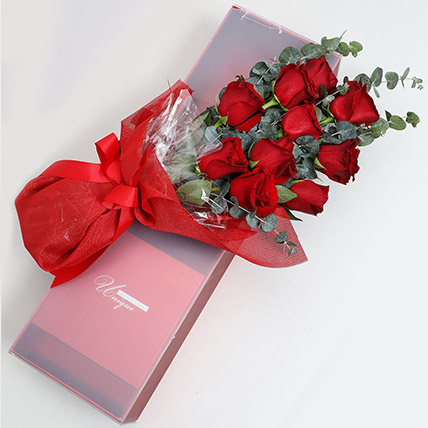 Magical Red Roses Box: Valentines Day Gifts to Fujairah