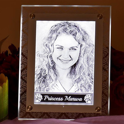 Personalised Light up Photo Frame: Engraved Personalised Gifts