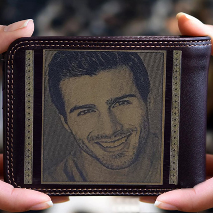 Personalised Mens Wallet With Photo: Engraved Personalised Gifts