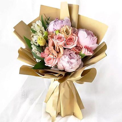 Pink Elegance Bouquet: Peonies Bouquets