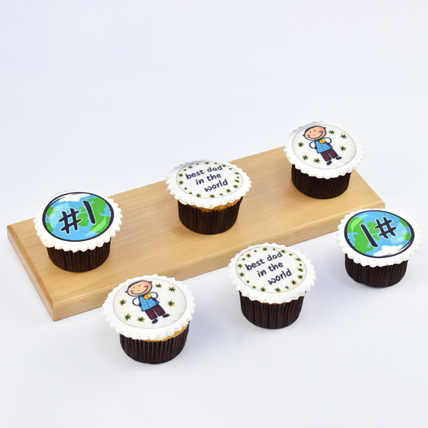 Best Dad In The World Cupcakes: Cupcake Delivery Dubai