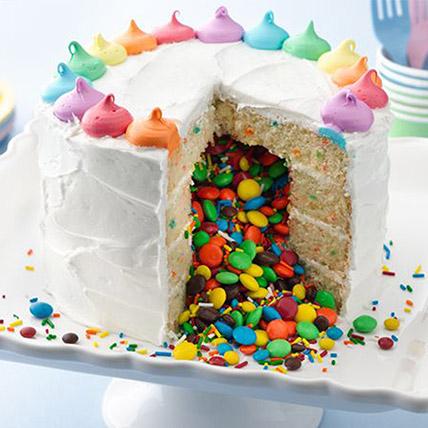 Rainbow Surprise Cake: Anniversary Designer Cakes