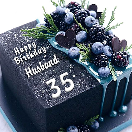 Birthday Blueberry Square Cake: Gifts for Her