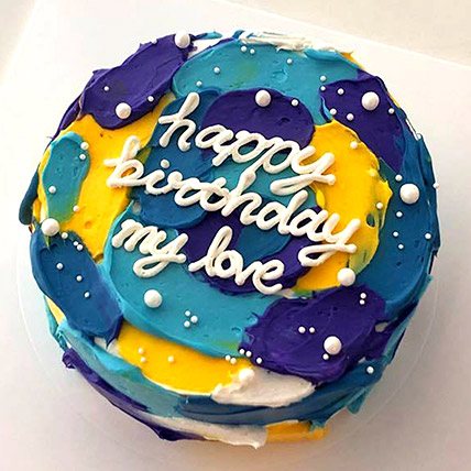 Beautiful Painted Sky Cake: Cakes Delivery in Ras Al Khaimah