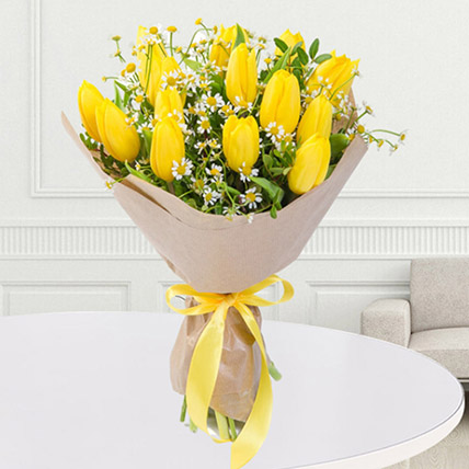 Yellow Tulips Bouquet: Tulips Bouquet