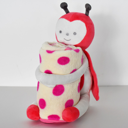 Ladybug Soft Toy with Baby Blanket: Soft Toys