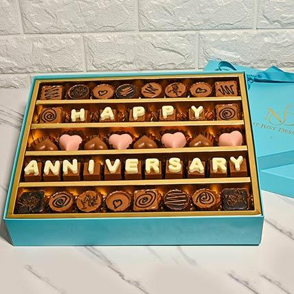 Happy Anniversary Assorted Box Of Chocolates: Best Chocolate in Dubai