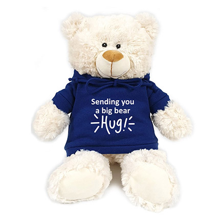 Fluffy Teddy Bear With Blue Hoodie: New Arrival Gifts