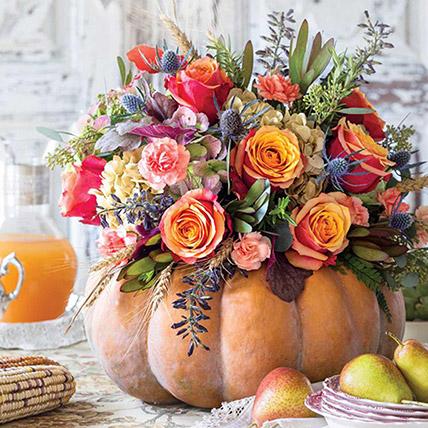 Warm Celebration Mix Flower Arrangement: