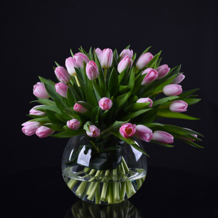 Pinking About You: Tulips Bouquet
