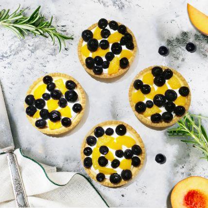 Flavourful Peach and Blueberry Gluten free Tart: Gluten Free Cakes