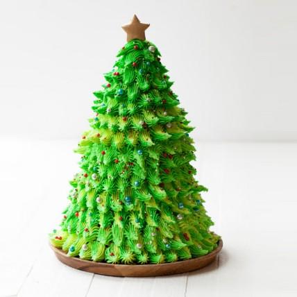 Christmas Tree Red Velvet Cake: Christmas Cake