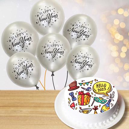 Hello To New Year Combo: New Year Cake