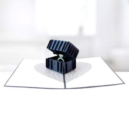 Ring In A Box 3D Card: 3d Greeting Cards