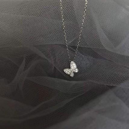 Zircon butterfly choker and earrings set: Jewellery