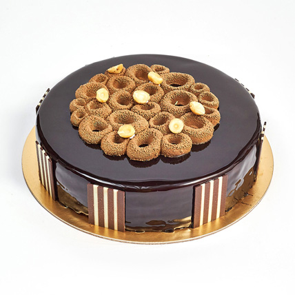 Crunchy Chocolate Hazelnut Cake: Anniversary Cake