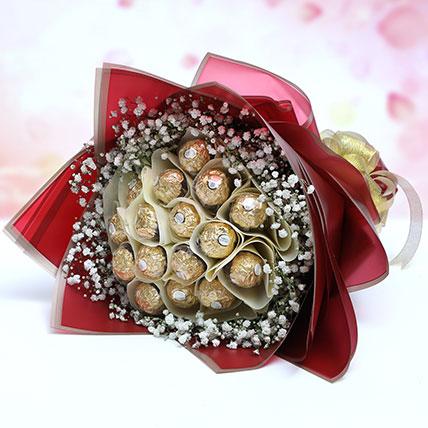 Designer Rochers Bouquet: Friendship Day Chocolates