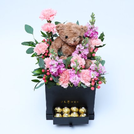 Happy Petals: Flowers and Teddy Bears