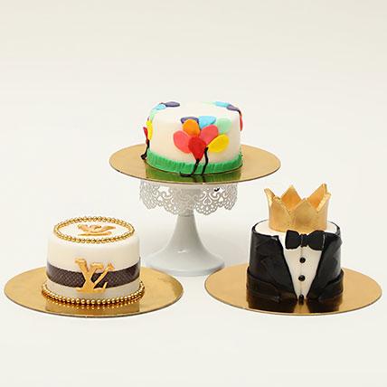 Trio Of Mono Cakes: