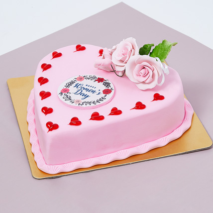 Womens Day Heart Shape Cake 500gm: Womens Day Cakes