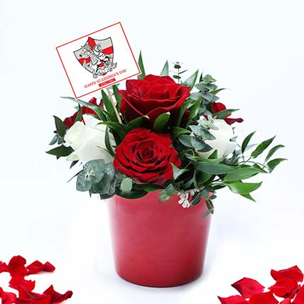 Red n White Roses for St George's Day: St. George Day Gifts
