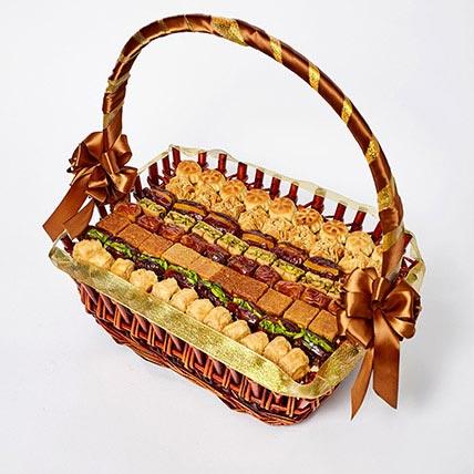 Stuffed Dates and Baklava Basket: Eid Gift Ideas
