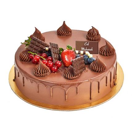 Fudge Cake For Eid: Eid Mubarak Cake