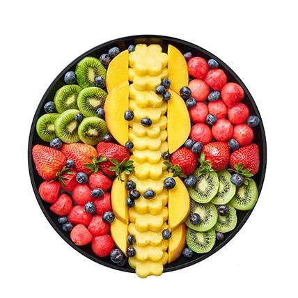 Healthy N Refreshing Mixed Fresh Fruits Platter: Edible Gifts