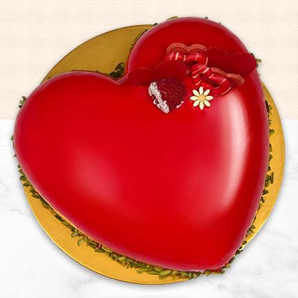 Choco Red Velvet Heart Cake: Special Birthday Gift for Girlfriend