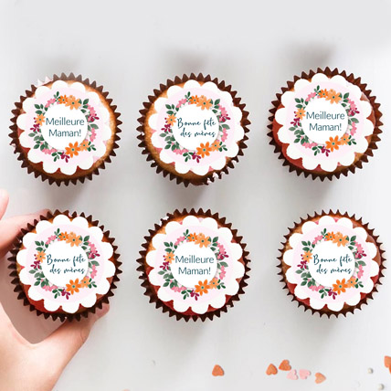 6 Pcs French Mother Day Chocolate Cup cakes: Mother's Day Gifts
