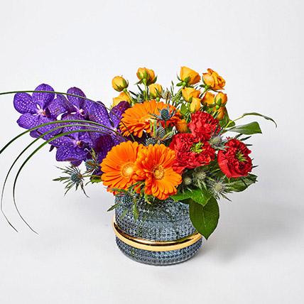 Blissful Mixed Flowers Vase Arrangement: