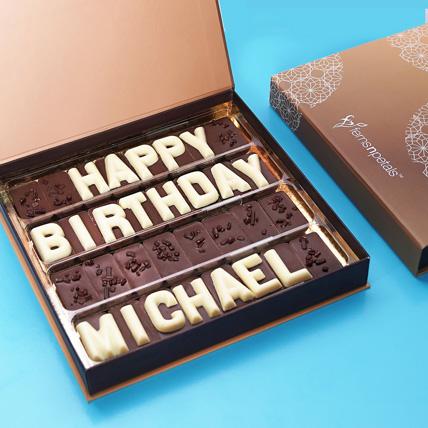 Customized Birthday Chocolate: