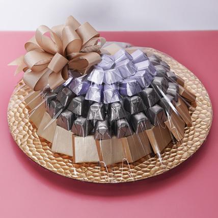 1 Kg Belgium Chocolate Tray : Raksha Bandhan Chocolates