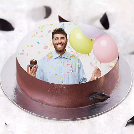 Birthday Special Photo Cake 500gm: Custom Cakes