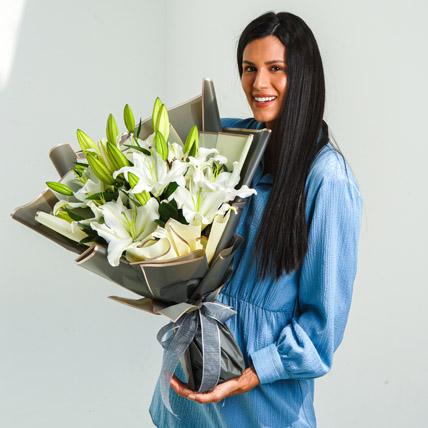 Beautiful Lilies Bouquet: Lilies in Dubai