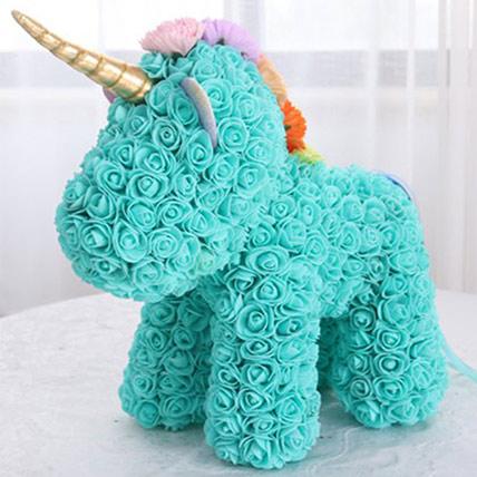 Legendary Tiffany Blue Flower Unicorn For Kids: